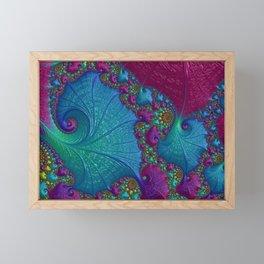 Blue Cotton Candy Framed Mini Art Print