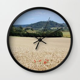 Lonesome Poppies Wall Clock