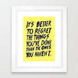 #NOREGRETS Framed Art Print