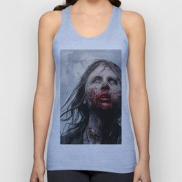 The Lone Wandering Walker - The Walking Dead Unisex Tank Top