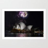 Sydney at Night  Art Print