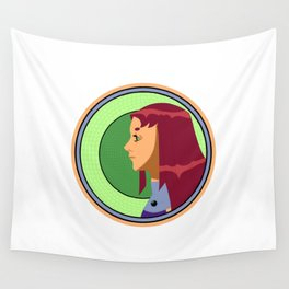 Starfire Nouveau Circle Wall Tapestry
