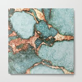 GEMSTONE & GOLD NEW MINT Metal Print