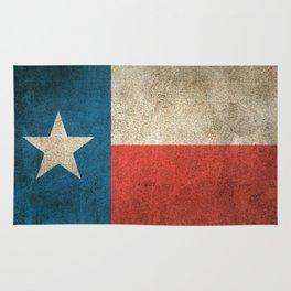 Old and Worn Distressed Vintage Flag of Texas Rug