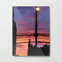 Wire Cutting Sky Metal Print