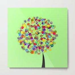 Tree of colors Metal Print