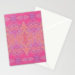 Mad pink marble 1 Stationery Cards