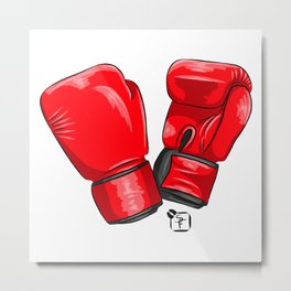 Boxing Gloves Metal Print
