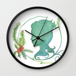 Winter Silhouette Wall Clock