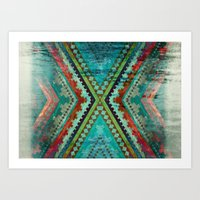 aztec Art Prints featuring AZTEC by ED design for fun