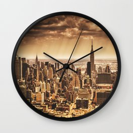 new york city building Wall Clock