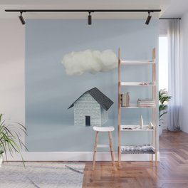 A cloud over the house Wall Mural