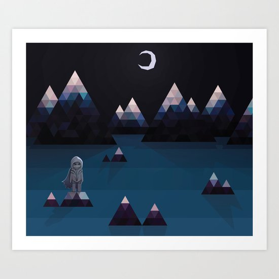 so quiet Art Print