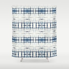 Faded Japanese Shibori Shower Curtain