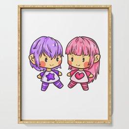 Girl Power Twins girl woman girls gift Serving Tray