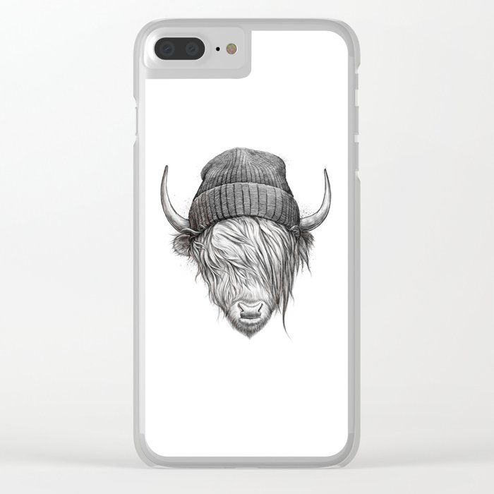 Highland cattle Clear iPhone Case