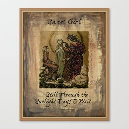 Sulamith Wulfing - Sweet Girl Lyrics Inspired by Stevie Nicks Canvas Print