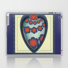 Heart With Flowers Laptop & iPad Skin
