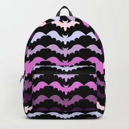 Bat Lace Unison Flight on Black Backpack
