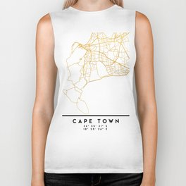 CAPE TOWN SOUTH AFRICA CITY STREET MAP ART Biker Tank