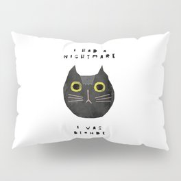 Blonde cat / poster, cat, art print, pictures, scandinavian, nursery, deco, family, art, animal, cat Pillow Sham