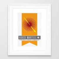 martell Framed Art Prints featuring House Martell Sigil V2 by P3RF3KT