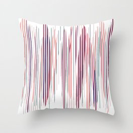 Stripped Colors Throw Pillow