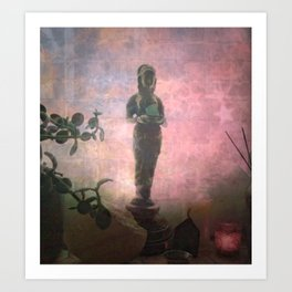 We Can't See Through Her, But She Lets The Light In Art Print