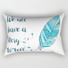 Story to Tell Rectangular Pillow
