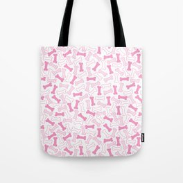 Kawaii Pink Bones Pattern Tote Bag