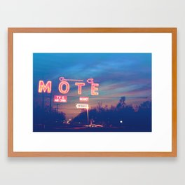 Tara Motel is Open for Business Framed Art Print