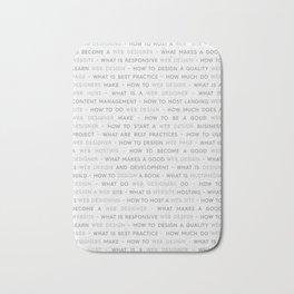 Web Design Keywords Poster. Grey. Bath Mat