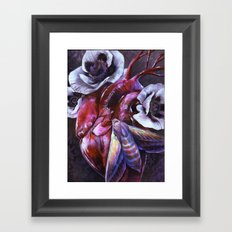 Moth and Heart Framed Art Print
