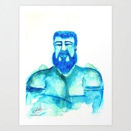 the other blue man  Art Print