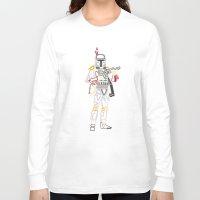 boba Long Sleeve T-shirts featuring Boba Font by Fabian Gonzalez