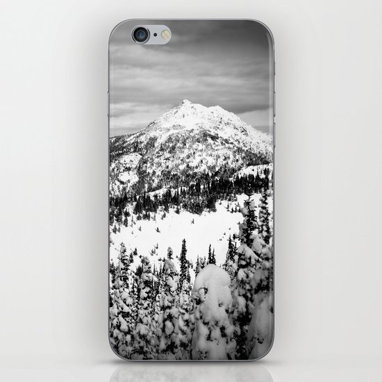Snowy Mountain Peak Black and White iPhone & iPod Skin
