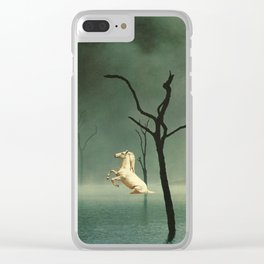 Drain The Swamp Of Sadness Clear iPhone Case