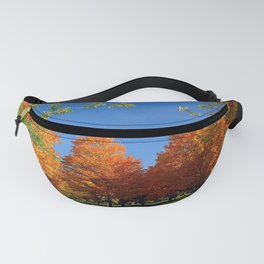 autumn park trees leaves bench picnic Fanny Pack