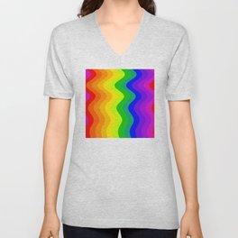 Color Wheel wave Unisex V-Neck