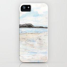 la plage à Saint-Malo iPhone Case