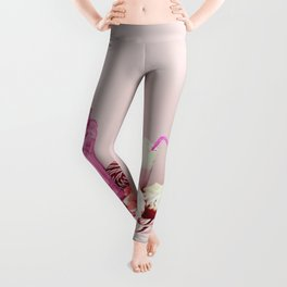 Sweet pink doom - still life Leggings