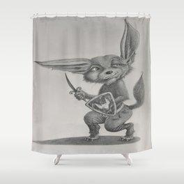 Dave the Warrior Fennec Fox Shower Curtain