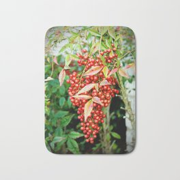 Red Berries Bath Mat