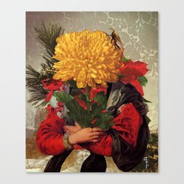 Portrait of Susanna Fourment as a Flower Arrangement Canvas Print