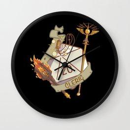 Cleric D20 fantasy Dice Wall Clock