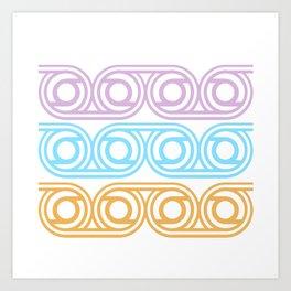 Pattern pastel Art Print
