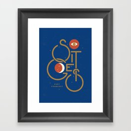 """So It Goes"" — Kurt Vonnegut Framed Art Print"