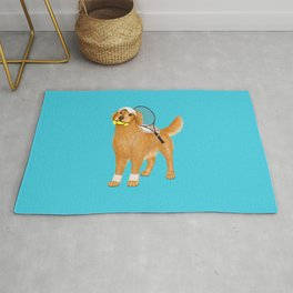 Ready for Tennis Practice (Blue) Rug