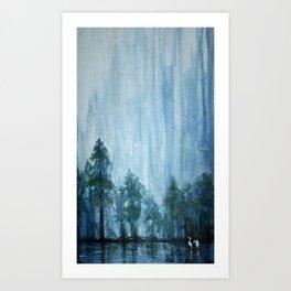 Twilight Lake Art Print