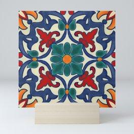 Colorful Azulejos Pattern Mini Art Print